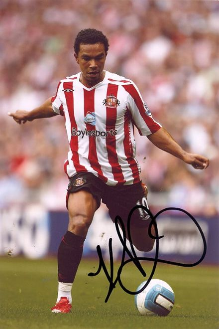 Kieran Richardson, Sunderland, signed 12x8 inch photo.